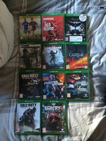 Xbox one with connect and 19 games 260 ono