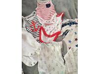 Baby Boys NEXT vest & sleepsuit bundle SOME NEW 0-3 months