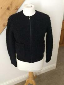 Cos wool navy cardigan XS