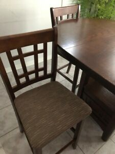 5 piece extendable table and chair set