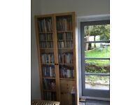 IKEA billy bookcase. W80cm, D28, H202. Birch veneer. Vg condition. Glass doors £30 text 07973305582
