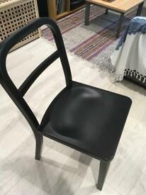 Black metallic chairs