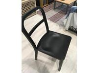 Black metallic chairs