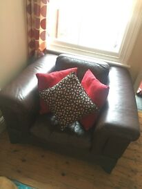 Brown leather chair