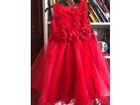 Red heavy princess dress girls