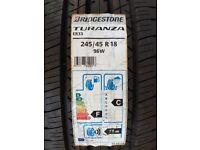 2x New Tyres Bridgestone Turanza ER33 245/45R18 96W