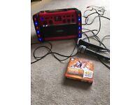 EASY KARAOKE MACHINE WITH 2 MICROPHONES AND 3XCHART CDS