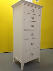 John Lewis Contemporary White Tallboy Chest of Drawers Dresser Sideboard Furniture Laura Ashley