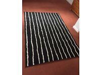 Ikea black and white rug