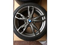 Like new BMW 1 or 2 series Msport 140 alloys wheels and tyres