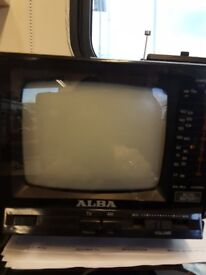 Retro 5 inch Alba TV/Radio