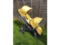 Yellow / Maya Gold Uppababy Vista 2015 Tandem Double Pushchair Travel System