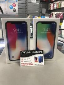 I phone X 265gb BRAND NEW boxes still sealed BLACK & SILVER