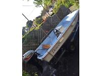 Dell quay dory 11' electric start outboard and trailer