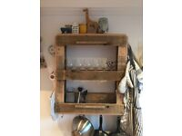 Upcycled Wine/Storage Rack for wall
