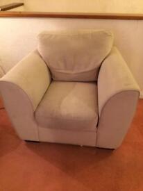 Free comfy beige armchair / cream chair