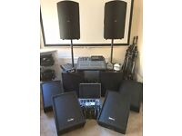 Behringer & SubZero Band PA System including Digital Desk, Fold back & all mics and leads