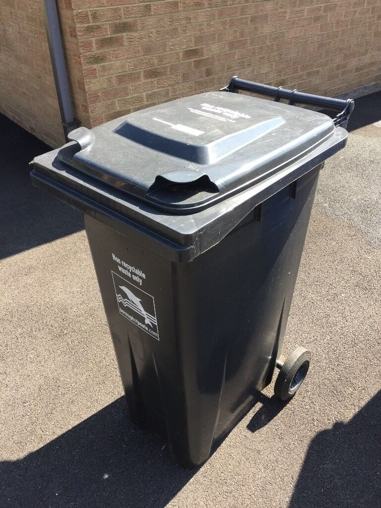 Wheelie Bin 180 Litre 90kg Black In Poole Dorset