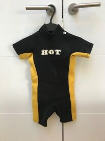 Child's wetsuit (yellow and black) suitable for 2 - 3 year old