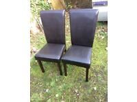 2x leather chairs