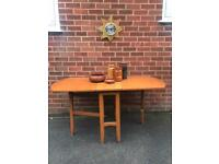 Vintage Teak Dining Table Drop Leaf Mid Century RETRO 60s 70s