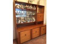 Immaculate wooden display cabinet with interior light