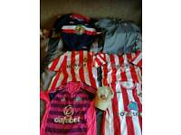 Sunderland Shirts and cap