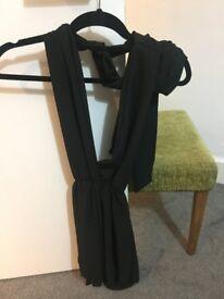 Black wrap/adjustable playsuit small/ UK 6