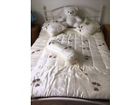 Double bed and New memory Foam Topper Included