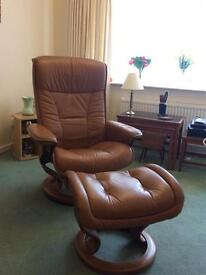 Stressless chair and matching footstool