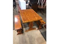 Small Dining Table With Bench Seats - Kitchen - Bar - Diner