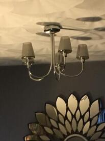 Set of two light fixtures