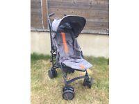 Mamas and Papas Stroller Grey/ orange