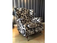 Wing Back Armchair - Large Armchair - On Castors - High Back Armchair - 2 Available - Reduced