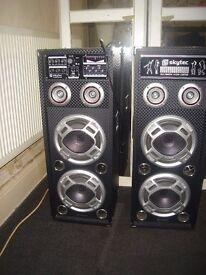 active karaoke speakers multi media system