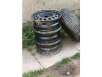 "4 Genuine Ford Steel wheels 15"" 4x108"