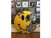 Ex Police Riot Shield Acid House Rave Smiley Face Banksy D*Face Jimmy Cauty Graffiti Street Art