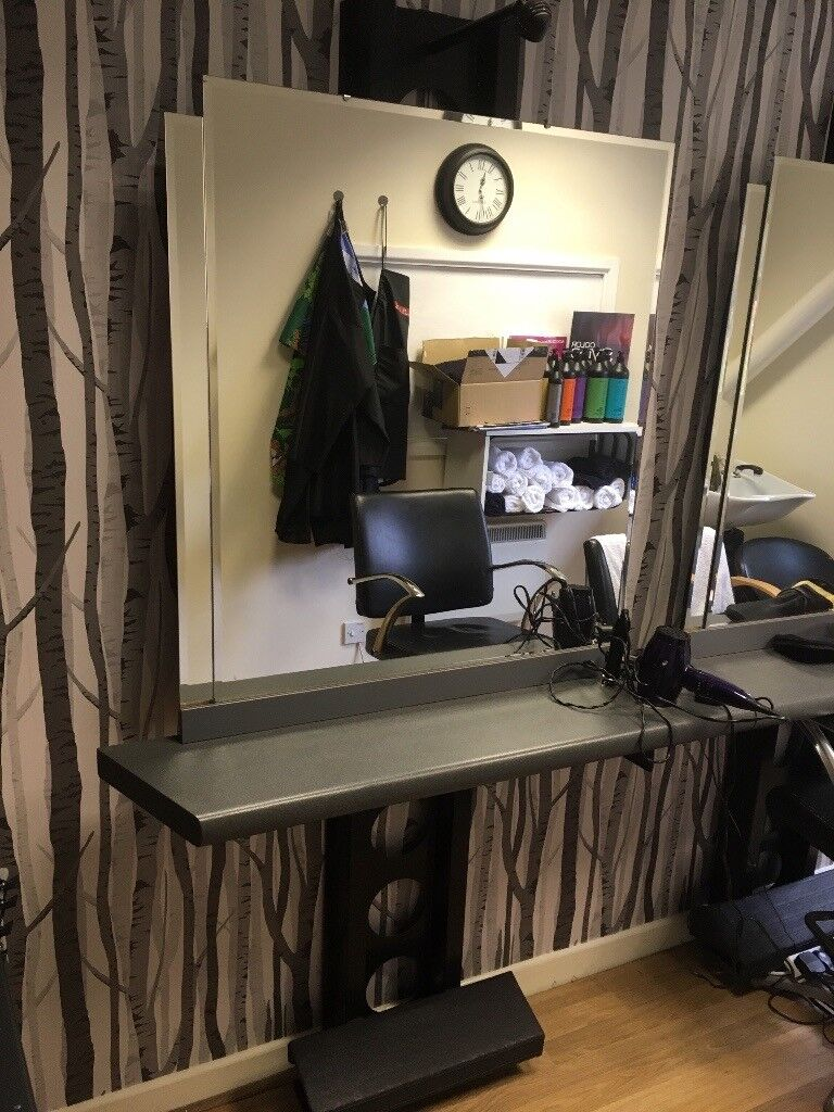 Hairdressing mirror stations/units