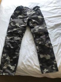 Spada Flage Trousers - Camo Black