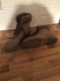 Mink colour boots