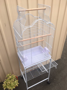 BRAND NEW $95 open roof cage & trolley - with front platform door