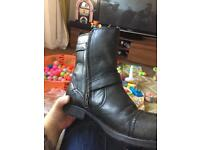 Red tape leather zip boots size 10