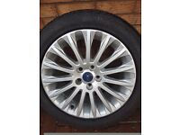 "Genuine Ford 17"" Alloys x4 off Ford Focus Titanium Turbo. Only done 4k miles. Like new, no marks"