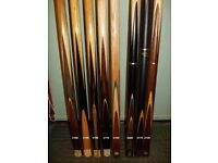 ***** Quality Snooker & Pool CUES and CASES from £15 up to £220 *****