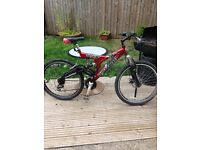Lady's mountain bike also gents mountain bike in good working condition