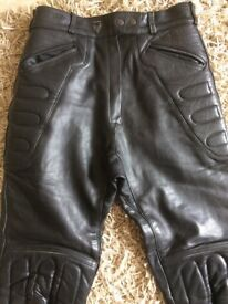 Ladies Frank Thomas Leather Motorcycle Trousers