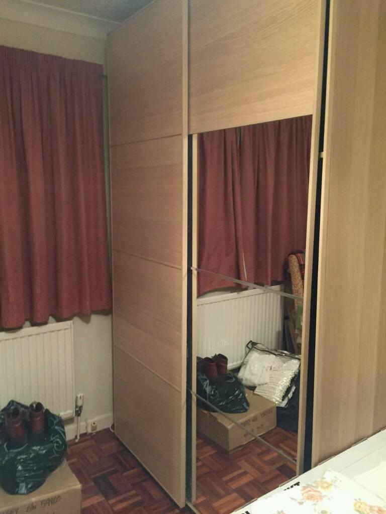 ikea pax malm wardrobe must go in newton abbot devon gumtree. Black Bedroom Furniture Sets. Home Design Ideas