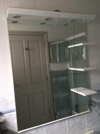 Large white vanity mirror