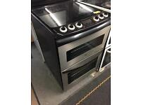 Zanussi black and chrome 600 ceramic top cooker with 6 mth warranty