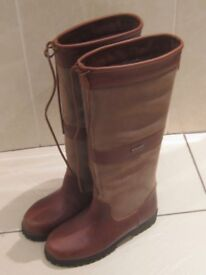 Welligogs Sloane Mocha Waterproof Boots (UK size 5) - worn once